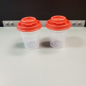 New mini Tupperware salt and pepper shakers